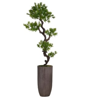 "73.25"" Tall Yacca Tree Lifelike Faux in Resin Planter"