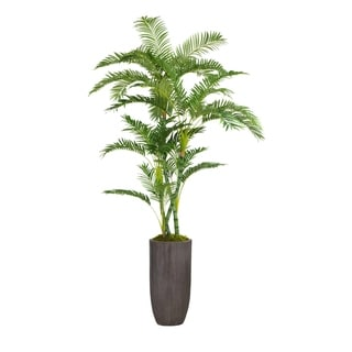 """86.25"""" Tall Palm Tree Artificial Faux Décor in Resin Planter"""