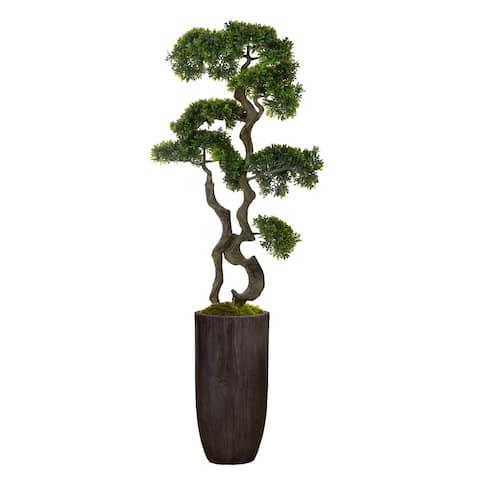 "59.25"" bonsai tree in Resin Planter"