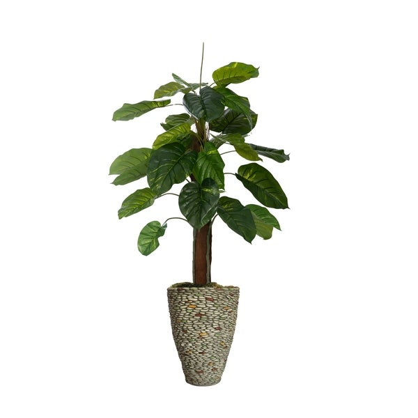 "61.5"" Real touch greenery in Fiberstone Planter"