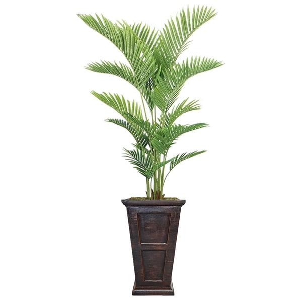 "82"" Real Touch Palm Tree in Fiberstone Planter"