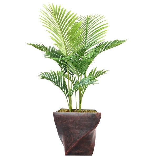 "53.5"" Real Touch Palm Tree in Fiberstone Planter"