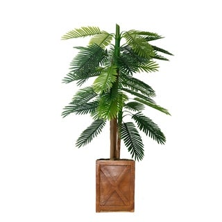 "67"" Real touch palm tree in Fiberstone Planter"