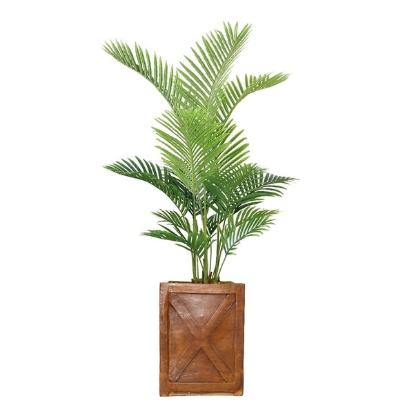 "65"" Real Touch Palm Tree in Fiberstone Planter"