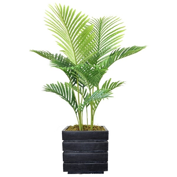 "50"" Real Touch Palm Tree in Fiberstone Planter"