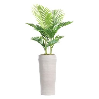 """65"""" Real Touch Palm Tree in Fiberstone Planter"""