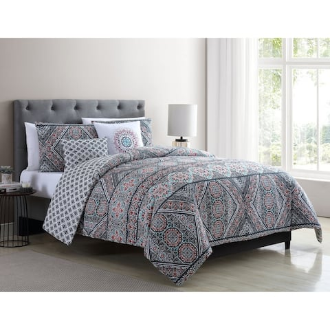 VCNY Home Jaline Reversible Medallion Comforter Set