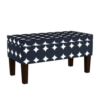 Skyline Furniture Storage Bench in Large Dot Navy