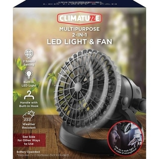 Climature Multipurpose 2-in-1 LED Light and Fan