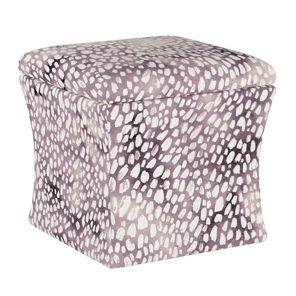 Enjoyable Shop Silver Orchid Dove Aqua Dot Lavender Storage Ottoman Bralicious Painted Fabric Chair Ideas Braliciousco