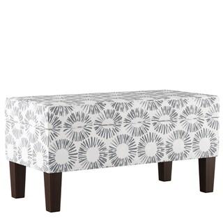 Skyline Furniture Storage Bench in Medallion Light Grey