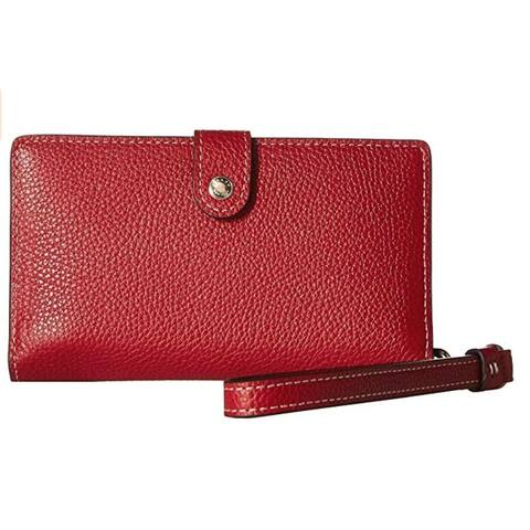 COACH Boxed Phone Wristlet Red