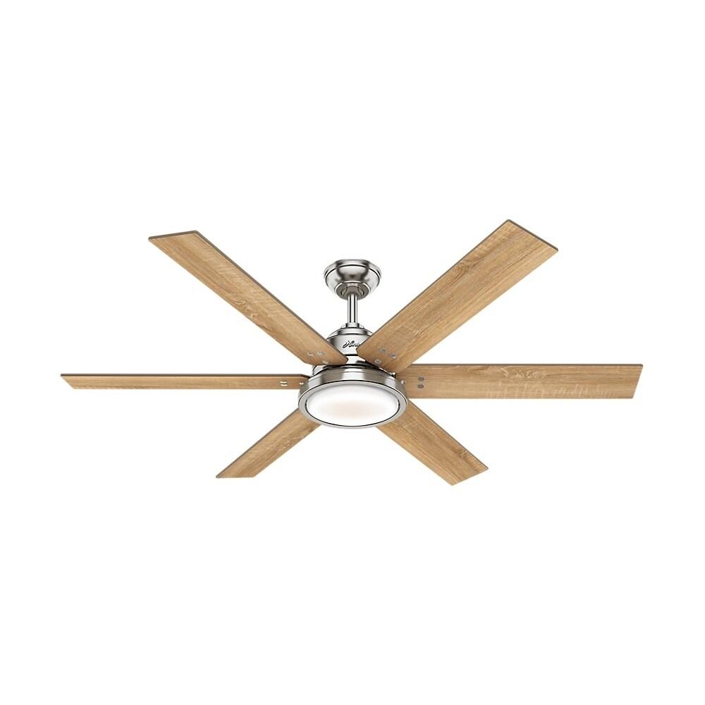 Warrant Brushed Nickel Ceiling Fan