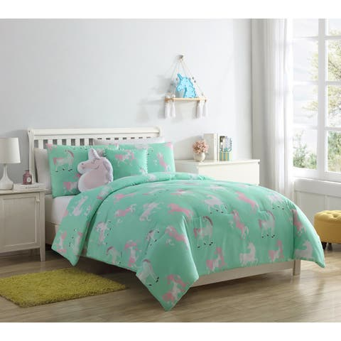 Porch & Den Gimm Tie Dye Unicorn Comforter Set