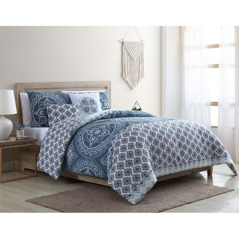 VCNY Home Sullivan Reversible Medallion Comforter Set