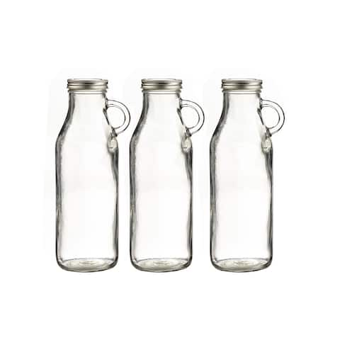 milk bottle set of 3 32oz