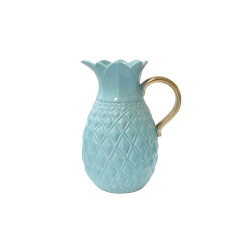 Pineapple Pitcher With Gold Handles
