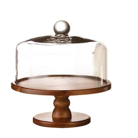 "madera pedestal cake plate 9""dx10.25""h"
