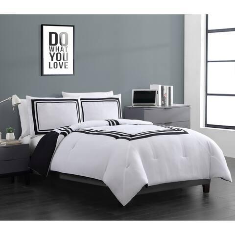 VCNY Home Hotel Stripe Reversible Comforter Set