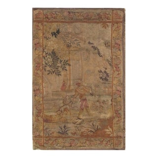 Late 19th Century Antique French Tapestry - 4′3″ × 7′ - 4′3″ × 7′