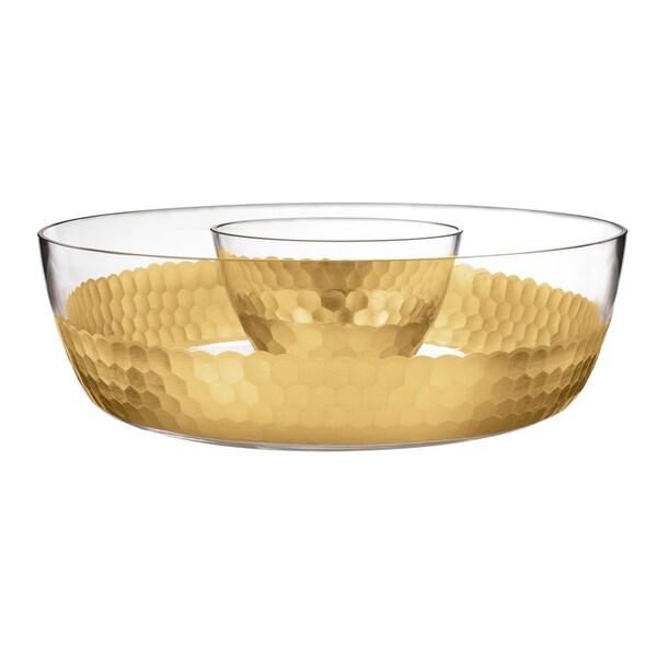 "daphne gold chip & dip 11.4x3.5"""