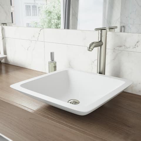 VIGO Seville Brushed Nickel Vessel Bathroom Faucet (As Is Item)