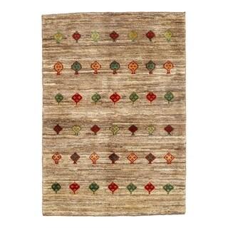 "Traditional Pasargad N Y Genuine Persian Gabbeh Rug - 3′4″ × 4′8"" - 3′4″ × 4′8"""