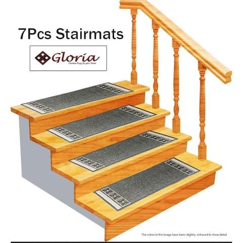Gloria Rug Stair Treads Non Slip - 8.5X26/GloriaStairTread