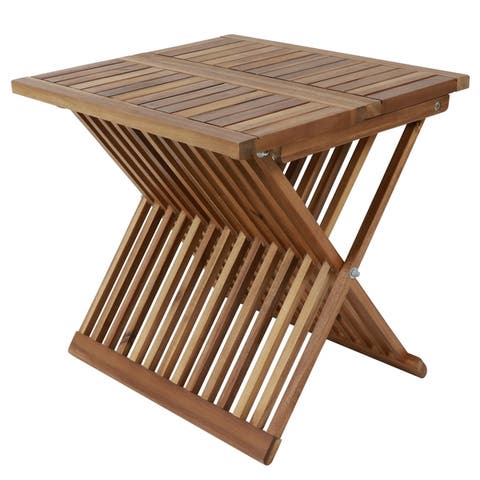 Weam Acacia Wood Folding Table by Havenside Home