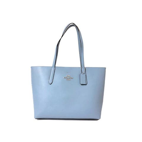 COACH F31353 Leather Avenue Tote Cornflower