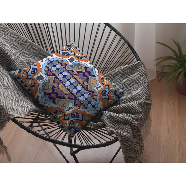 Hobo Orange Suede Double Sided Decorative Pillow by Amrita Sen