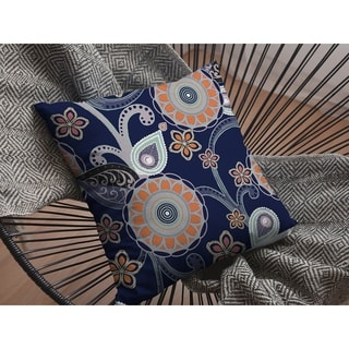 Muted Floral Circles Suede Double Sided Decorative Pillow by Amrita Sen