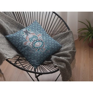 Hamsa Hand Suede Double Sided Decorative Pillow by Amrita Sen