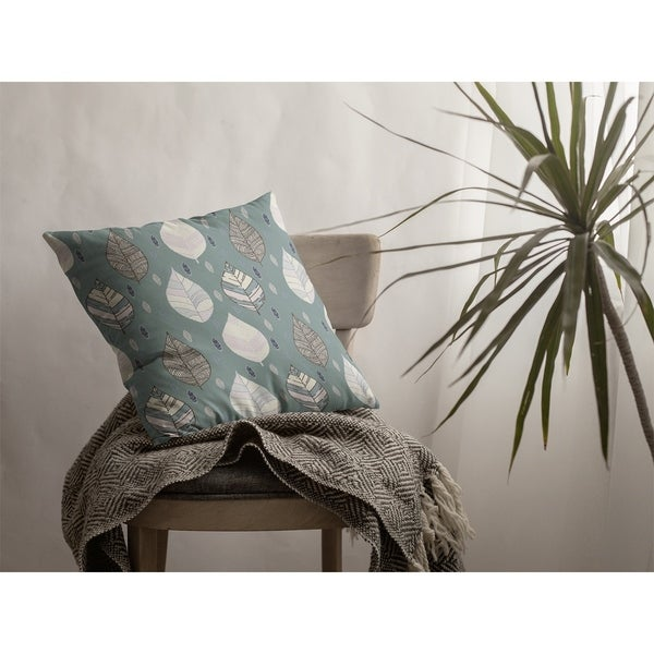 Falling Leaves Suede Double Sided Decorative Pillow by Amrita Sen