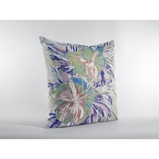 Hawaii Flowers Suede Double Sided Decorative Pillow by Amrita Sen