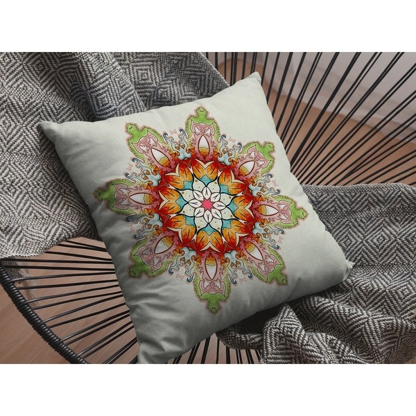 Cosmic Mandala Suede Double Sided Decorative Pillow by Amrita Sen