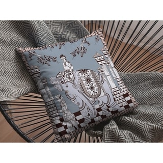 Elephant Rider Suede Double Sided Decorative Pillow by Amrita Sen