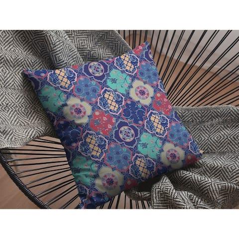 Diamond Tiles Suede Double Sided Decorative Pillow by Amrita Sen