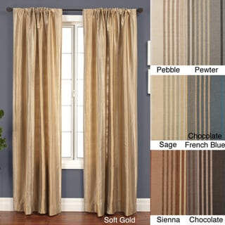 Jaipur Stripe Rod Pocket 96-inch Curtain Panel in Soft Gold (As Is Item)