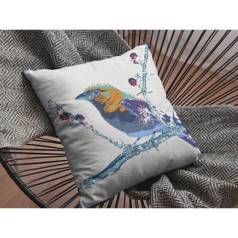 Red Robin Double Sided Decorative Pillow by Amrita Sen