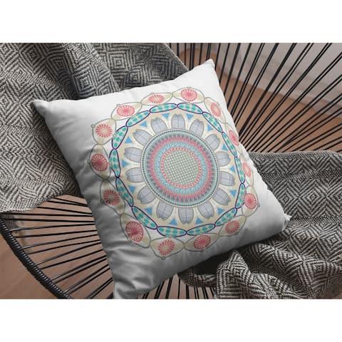 Net Mandala Suede Double Sided Decorative Pillow by Amrita Sen