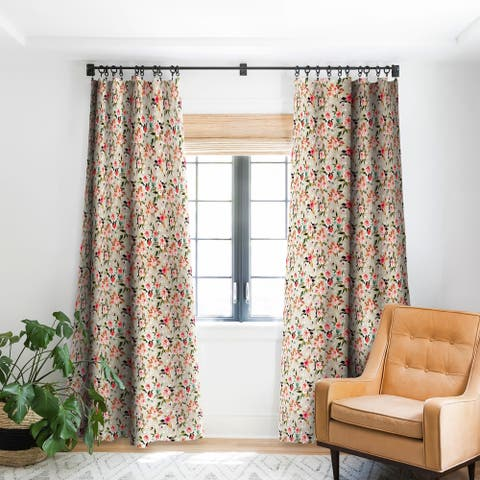 Deny Designs Flowery Meadow Bouquet Blackout Curtain Panel (2 Size Options)