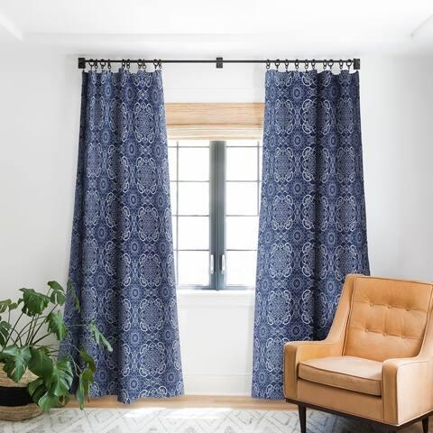 Deny Designs Mandala Blue Blackout Curtain Panel (2 Size Options)