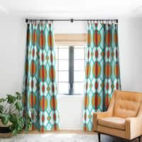 Deny Designs Mid Century Shapes Blackout Curtain Panel (2 Size Options)