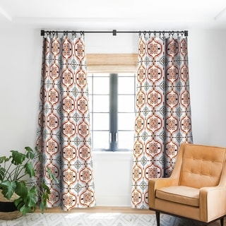 Deny Designs Andalusian Mosaic Pattern Blackout Curtain Panel - 84 Inches As Is Item)