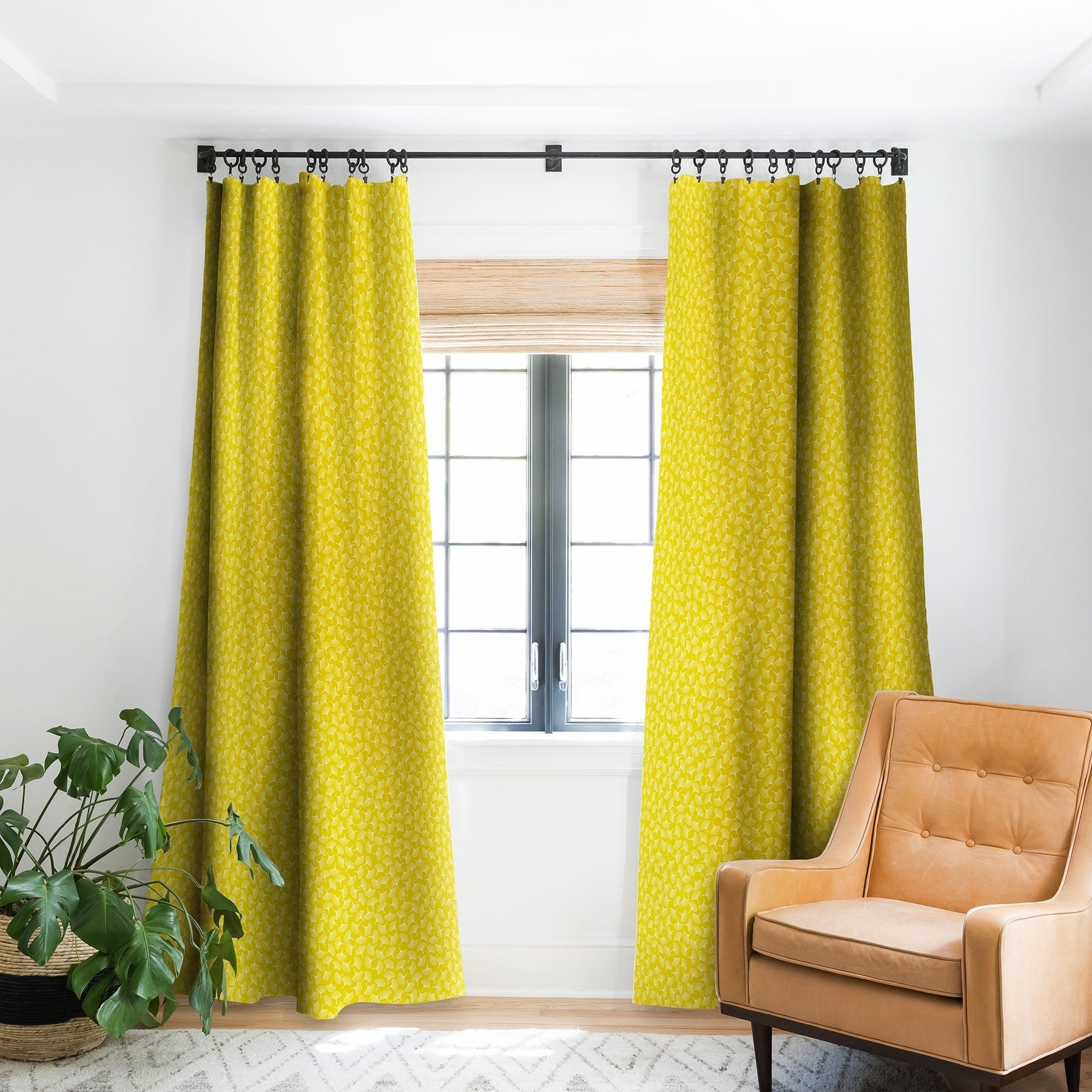 Shop Deny Designs Ginkgo Away With Me Yellow Blackout Curtain