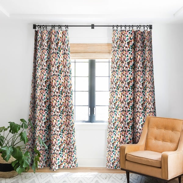 "Deny Designs Tropical Dots Blackout Curtain Panel - 84"" (As Is Item). Opens flyout."