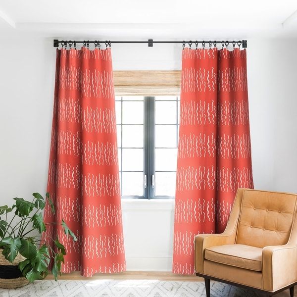 Deny Designs Squiggle Coral Blackout Curtain Panel (2 Size Options). Opens flyout.
