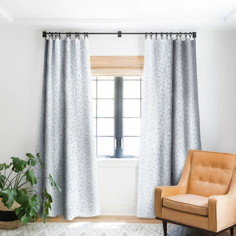 Deny Designs Dye Curves Grey Blackout Curtain Panel (2 Size Options)