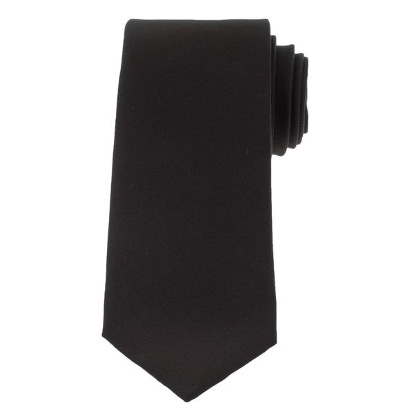 Versace Mens Solid Silk Tie